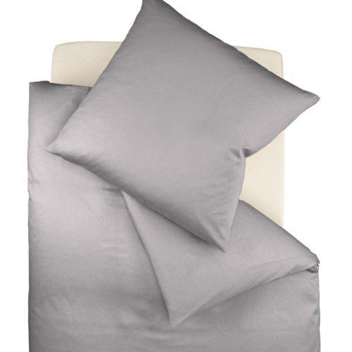 fleuresse colours bettw sche uni mako satin grau 155 x 220 cm m bel24. Black Bedroom Furniture Sets. Home Design Ideas