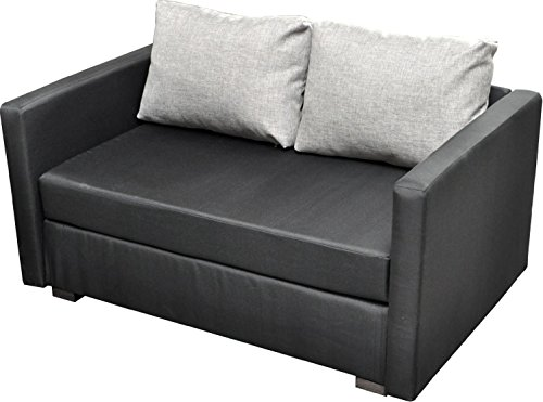 vcm 2er schlafsofa sofabett couch sofa mit schlaffunktion bettsofa 60x122x78 cm engol schwarz. Black Bedroom Furniture Sets. Home Design Ideas