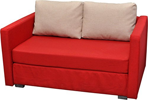 vcm 2er schlafsofa sofabett couch bett sofa mit schlaffunktion rot 60x122x78 cm engol rot. Black Bedroom Furniture Sets. Home Design Ideas
