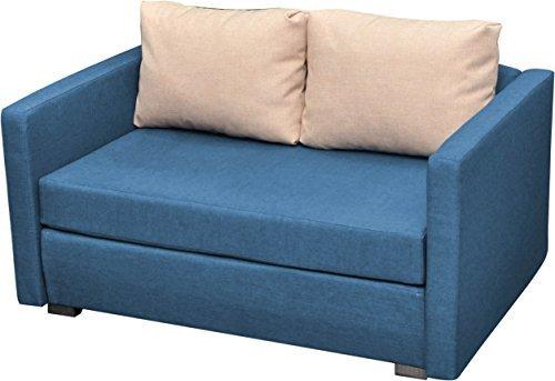 m bel24 vcm 900059 2 er couch engol sofa mit schlaffunktion blau 0. Black Bedroom Furniture Sets. Home Design Ideas