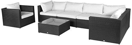 vanage hamburg gartenm bel set xxxl mit kissenbez gen zum wechseln in wei und anthrazit. Black Bedroom Furniture Sets. Home Design Ideas