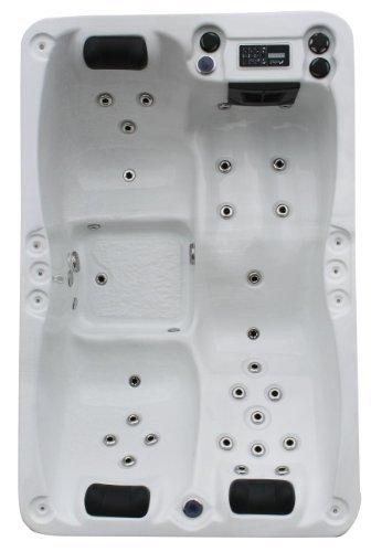 Vasa-Fit, Whirlpool W195SL, Whirlpool aus hochwertigem Sanitäracryl für 2-3 Personen in SkyWhite