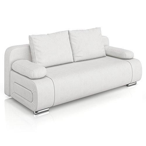 vicco schlafsofa sofa couch ulm federkern 200x91cm pu leder wei g stebett m bel24 m bel g nstig. Black Bedroom Furniture Sets. Home Design Ideas