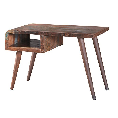 """Vintage Schreibtisch """"Pablo"""" aus recycling Holz Arbeitstisch Bürotisch Computertisch Kinderschreibtisch Retro Design - Used Look - mit Ablagefach - Jeder Tisch ein Unikat"""