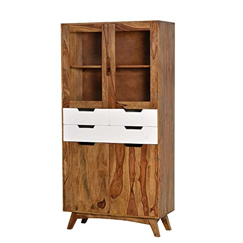 vitrine aus sheesham retro design pharao24 m bel24. Black Bedroom Furniture Sets. Home Design Ideas