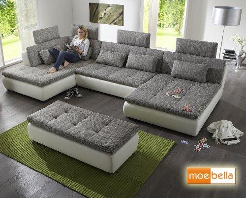 Sofa couchgarnitur couch sofagarnitur verona 4 u for Wohnlandschaft verona