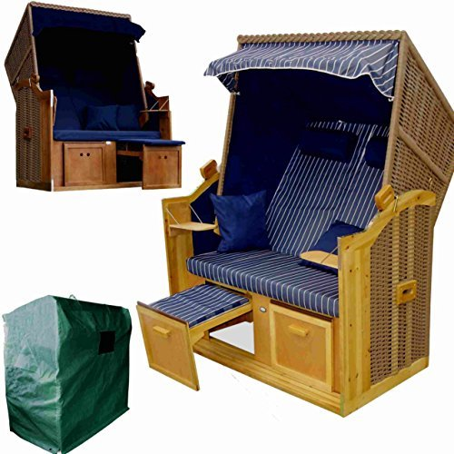 wohnwerk zweisitzer strandkorb ostsee exklusiv f r. Black Bedroom Furniture Sets. Home Design Ideas