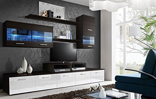 Wohnwand LOGO BMF 5.08 cm Cabintes LED TV-Ständer, 7 Farben!!! EML