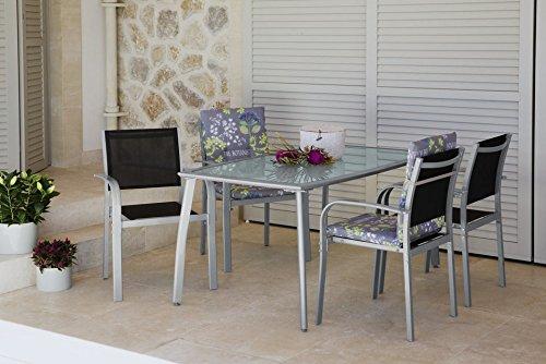 baumarkt direkt 5tlg gartenm bel diningset lima stapelsessel schwarz m bel24. Black Bedroom Furniture Sets. Home Design Ideas