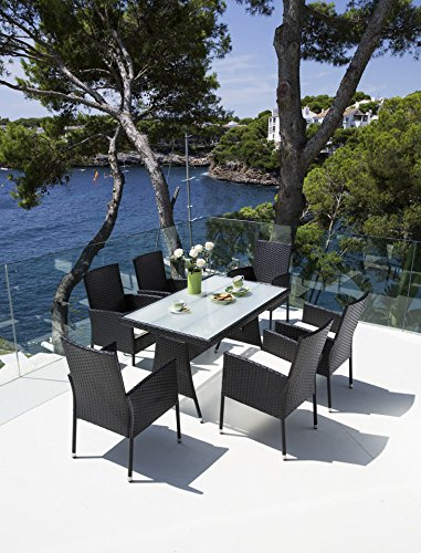 gartenm bel set costa rica 13 teilig tisch 140x80 cm. Black Bedroom Furniture Sets. Home Design Ideas