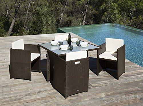 baumarkt direkt gartenm bel diningset verona braun m bel24 m bel g nstig. Black Bedroom Furniture Sets. Home Design Ideas