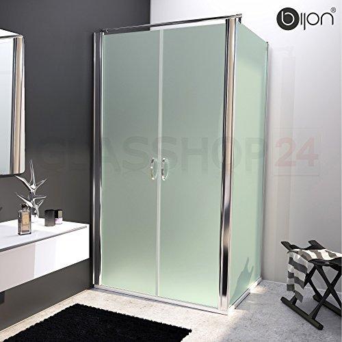 bijon design glas eckdusche mit pendelt r nano mattglas 125 x 195cm seitenwand 100 x. Black Bedroom Furniture Sets. Home Design Ideas