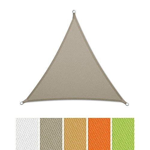 casa pura Sonnensegel Wasserabweisend imprägniert | Dreieck gleichseitig | Testnote 1.4 | UV Schutz | Verschiedene Farben und Größen (Grau, 5x5x5m)