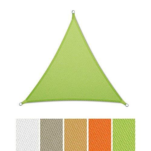 casa pura® Sonnensegel wasserabweisend imprägniert | Dreieck gleichseitig | Testnote 1.4 | UV Schutz | verschiedene Farben und Größen (hellgrün, 3x3x3m)