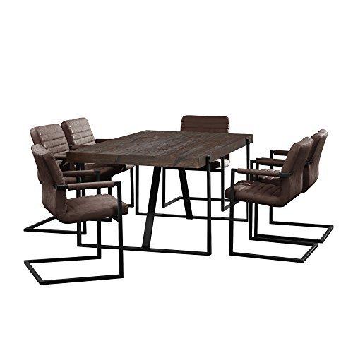 esstisch eiche smoked mit 6 st hlen. Black Bedroom Furniture Sets. Home Design Ideas