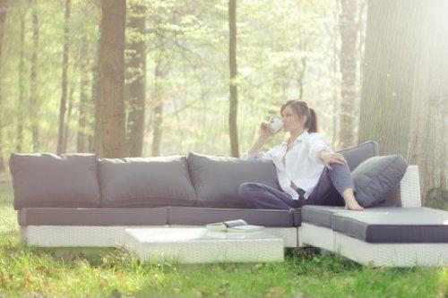 essella polyrattan garnitur melbourne in wei m bel24. Black Bedroom Furniture Sets. Home Design Ideas