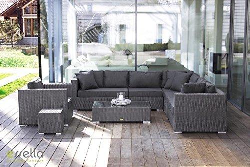 essella polyrattan garnitur miami in grau flachgeflecht m bel24 m bel g nstig. Black Bedroom Furniture Sets. Home Design Ideas