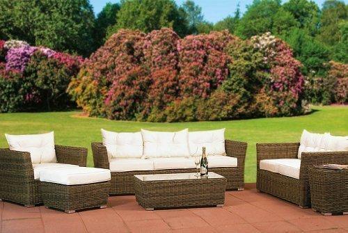 essella polyrattan garnitur new orleans in naturoptik mit 5mm rundgeflecht m bel24. Black Bedroom Furniture Sets. Home Design Ideas