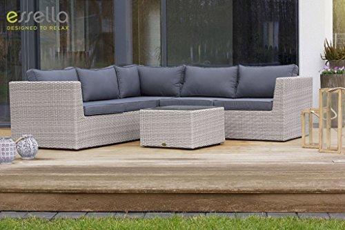 essella polyrattan garnitur oslo in vintage weiss geflecht halbrund m bel24. Black Bedroom Furniture Sets. Home Design Ideas