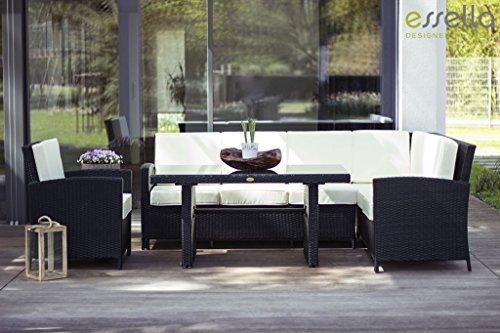 essella polyrattan garten eckbank berlin in schwarz m bel24 m bel g nstig. Black Bedroom Furniture Sets. Home Design Ideas