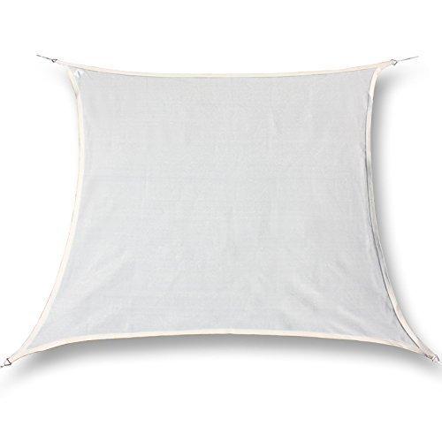 hanSe® Marken Sonnensegel 100% Polyester - wasserabweisend Quadrat 6x6 m Creme