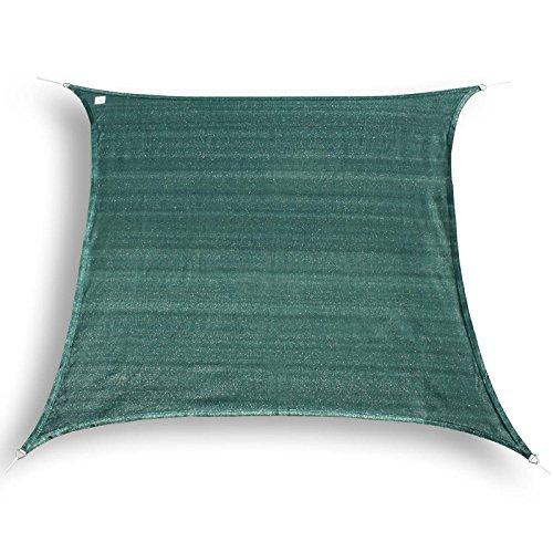 hanSe® Marken Sonnensegel Sonnenschutz Segel Quadrat 2x2 m Grün