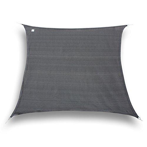 hanSe® Marken Sonnensegel Sonnenschutz Segel Quadrat 5x5 m Graphit