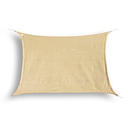 hanse marken sonnensegel sonnenschutz segel rechteck 3x4 m sand m bel24. Black Bedroom Furniture Sets. Home Design Ideas