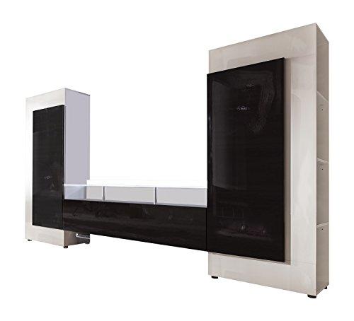 wohnwand wei schwarz hochglanz interessante ideen f r die gestaltung eines. Black Bedroom Furniture Sets. Home Design Ideas