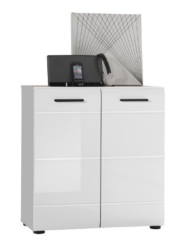 trendteam sn86601 kommode weiss hochglanz bxhxt 71x76x34. Black Bedroom Furniture Sets. Home Design Ideas
