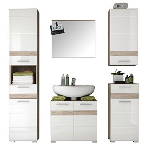 trendteam badezimmer 5 teilige set kombination set one. Black Bedroom Furniture Sets. Home Design Ideas