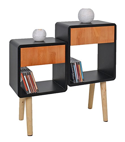 ts ideen regal schrank kommode im cube retro design f r. Black Bedroom Furniture Sets. Home Design Ideas