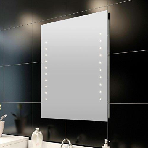 vidaXL Badspiegel Lichtspiegel LED Spiegel beleuchteter Wandspiegel 50x60 cm
