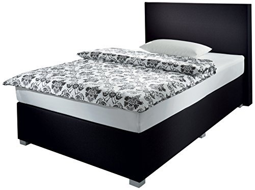 wellness edition 18330 boxspringbett 140 x 200 cm schwarz bonell 0 m bel24 m bel g nstig. Black Bedroom Furniture Sets. Home Design Ideas