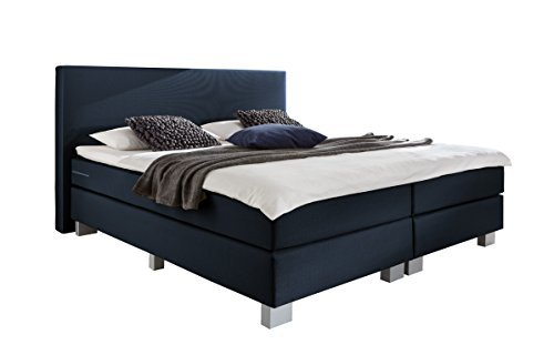 wellness edition 18351 boxspringbett blau bonell taschenfederkern 100 x 200 cm m bel24. Black Bedroom Furniture Sets. Home Design Ideas