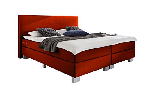 wellness edition 18434 boxspringbett rot bonell bonell 140 x 200 cm m bel24. Black Bedroom Furniture Sets. Home Design Ideas