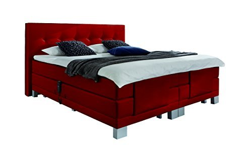 wellness edition 18462 boxspringbett elektro taschenfederkern 180 x 200 cm rot m bel24. Black Bedroom Furniture Sets. Home Design Ideas