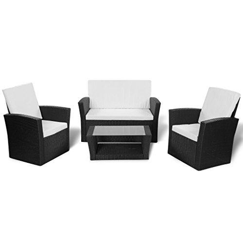 vidaxl gartenm bel poly rattan sitzgruppe lounge sessel. Black Bedroom Furniture Sets. Home Design Ideas