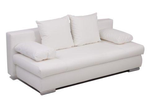 b famous schlafsofa chicago fk kunstleder weiss 200x95 cm m bel24. Black Bedroom Furniture Sets. Home Design Ideas