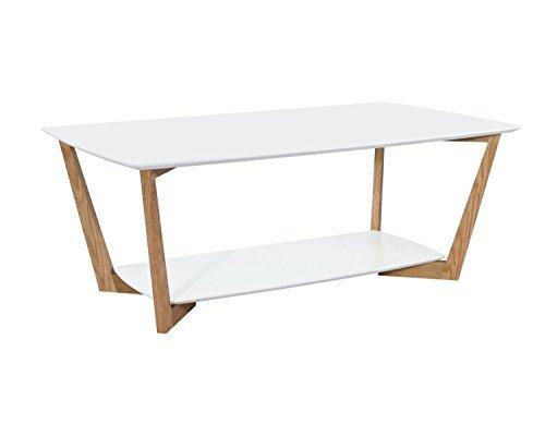 cagusto couchtisch rasmus mit 2 mdf platten in wei matt und eichholz gestell m bel24. Black Bedroom Furniture Sets. Home Design Ideas
