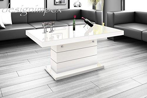 design couchtisch h 333 wei hochglanz h henverstellbar ausziehbar tisch m bel24. Black Bedroom Furniture Sets. Home Design Ideas