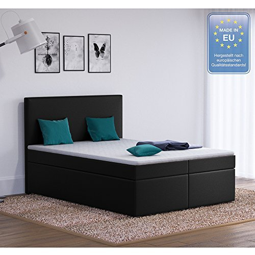 m bel24 m bel g nstig designer boxspringbett 140x200cm doppelbett polsterbett bett hotelbett. Black Bedroom Furniture Sets. Home Design Ideas