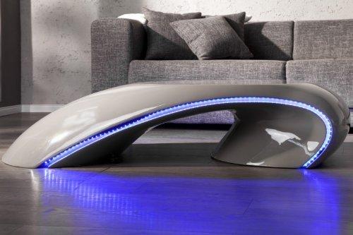 dunord design couchtisch tube mit led beleuchtung grau m bel24 shop. Black Bedroom Furniture Sets. Home Design Ideas
