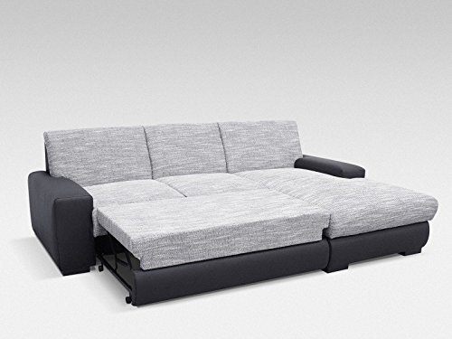 eck schlafsofa federkern hannover r weiss grau schwarz. Black Bedroom Furniture Sets. Home Design Ideas