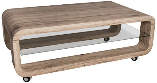 Hl design 01 12 623 4 couchtisch luke sanremo eiche sand for Couchtisch rollbar