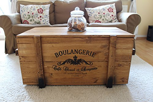 uncle joe s truhe boulangerie couchtisch truhentisch im vintage shabby chic style aus massiv. Black Bedroom Furniture Sets. Home Design Ideas