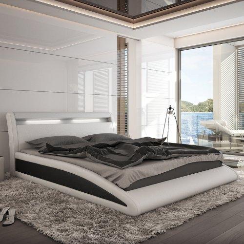 innocent polsterbett wei schwarz mit kunstleder bezug balisani 140x200 cm m bel24 m bel g nstig. Black Bedroom Furniture Sets. Home Design Ideas