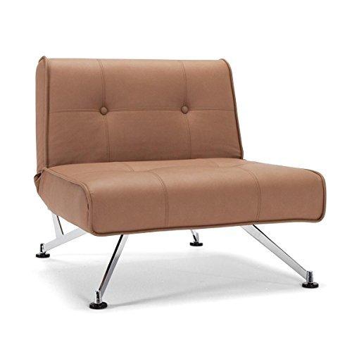 m bel24 innovation clubber sessel braun kunstleder bezug. Black Bedroom Furniture Sets. Home Design Ideas