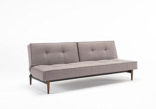 innovation splitback schlafsofa grau mixed dance chrom per weiss design sofa m bel24. Black Bedroom Furniture Sets. Home Design Ideas