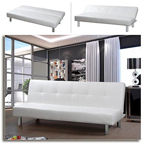 m bel24 m bel g nstig mila schlafsofa weiss bettsofa. Black Bedroom Furniture Sets. Home Design Ideas